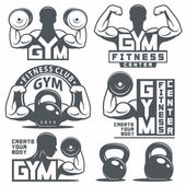 Photo Gym Emblems Set
