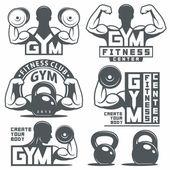 Photo Gym Emblems Set