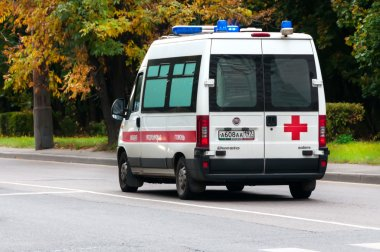 MOSCOW, RUSSIA - October 1, 2015:Ambulance
