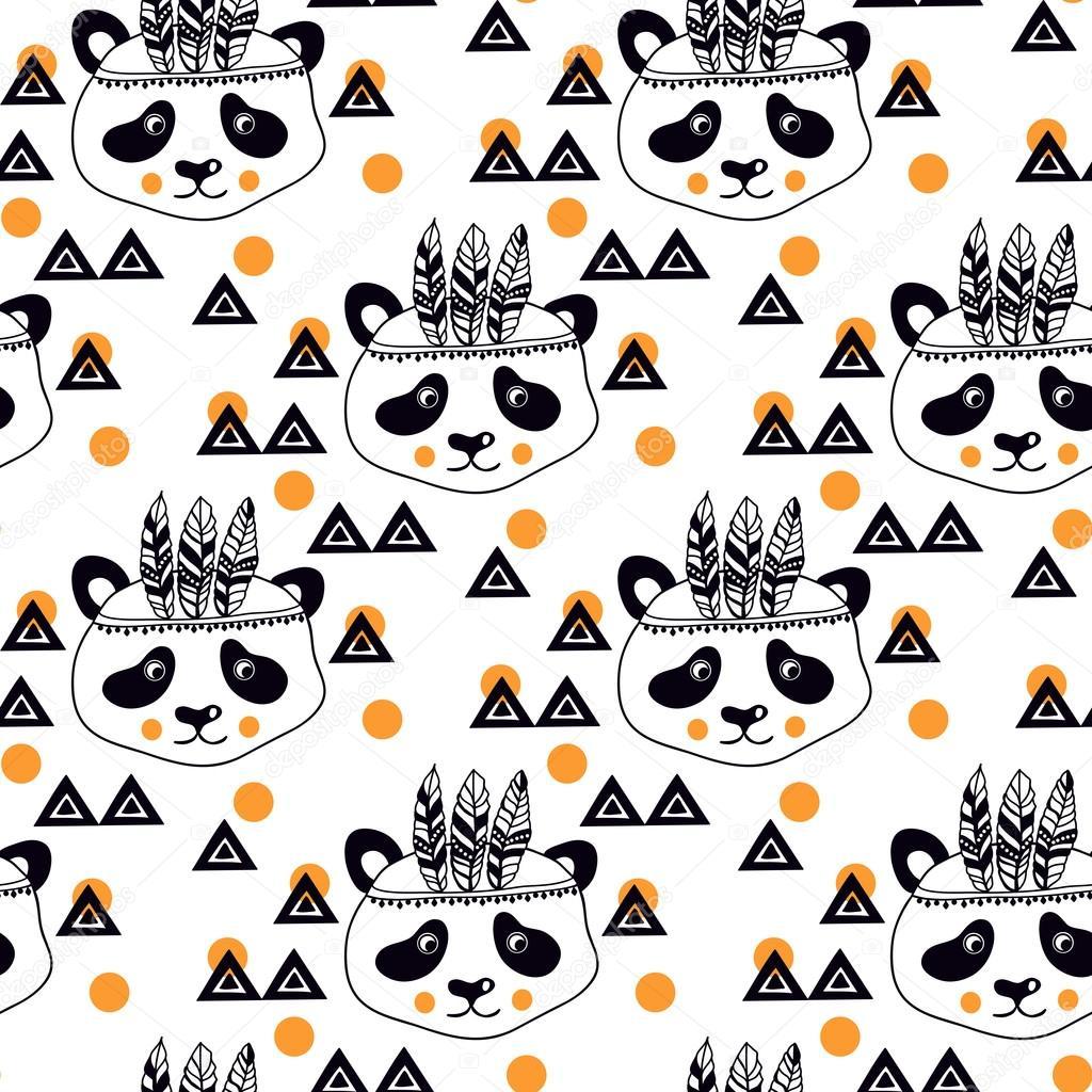 Patrón de los niños con los mapaches — Archivo Imágenes Vectoriales ...