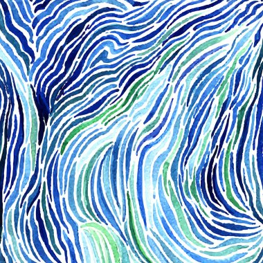 Abstract watercolor sea pattern