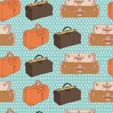 Pattern with luggage