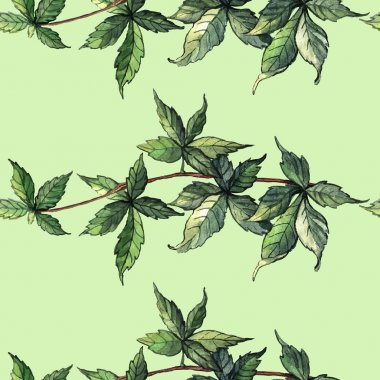 Watercolor pattern with ivy
