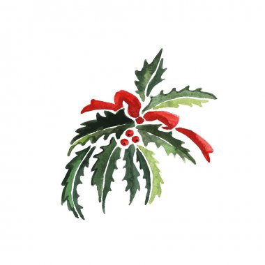 Watercolor Christmas Decoration