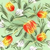 Jarní květinové tulipány vzor