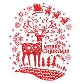 Vánoční přání s motivem