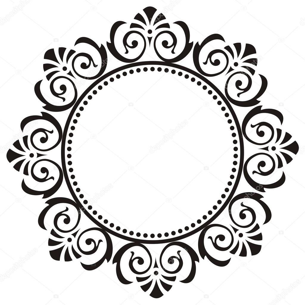 round frame with floral ornament stock vector svetkom 62614947