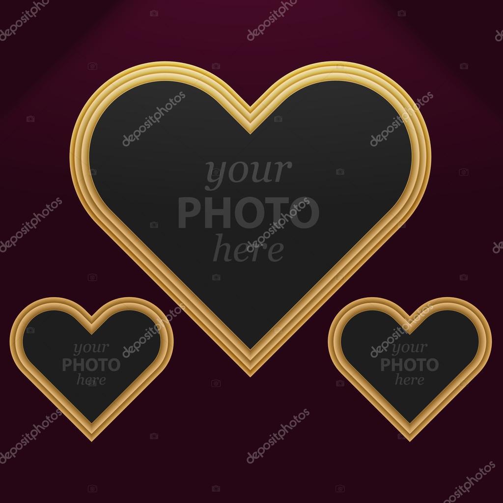 Satz von 3 Herz Bilderrahmen — Stockvektor © siminitzki #59721245