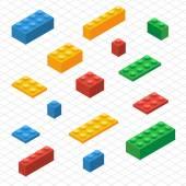 Proveďte vlastní sady lego bloky v izometrickém pohledu