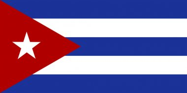The official flag of the Republic of Cuba in both sze and color. The flag was  adopted May 20, 1902
