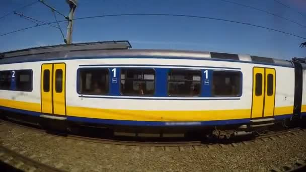 Two Trains Moving Side by Side
