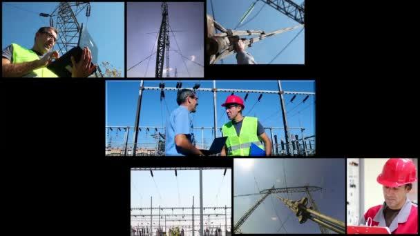Sistema di distribuzione di energia elettrica con i lavoratori