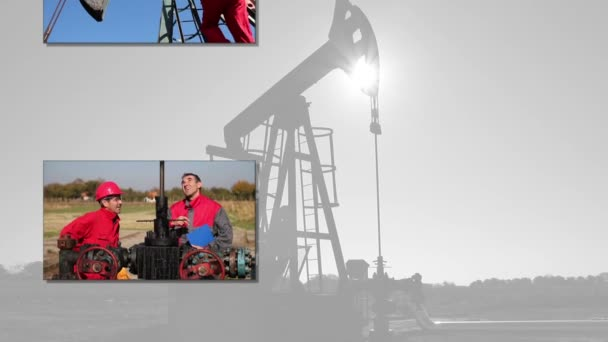Oil drilling rig workers