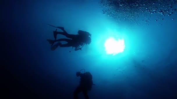 Rescue Divers Learning Rescue Techniques in Open Waters