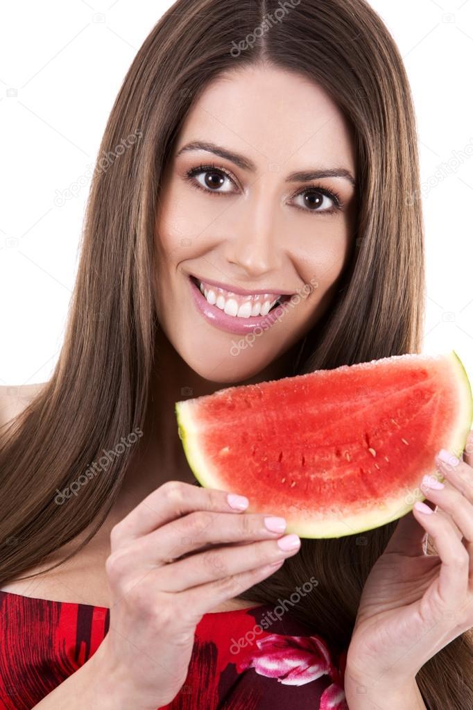 Brunette mature melon