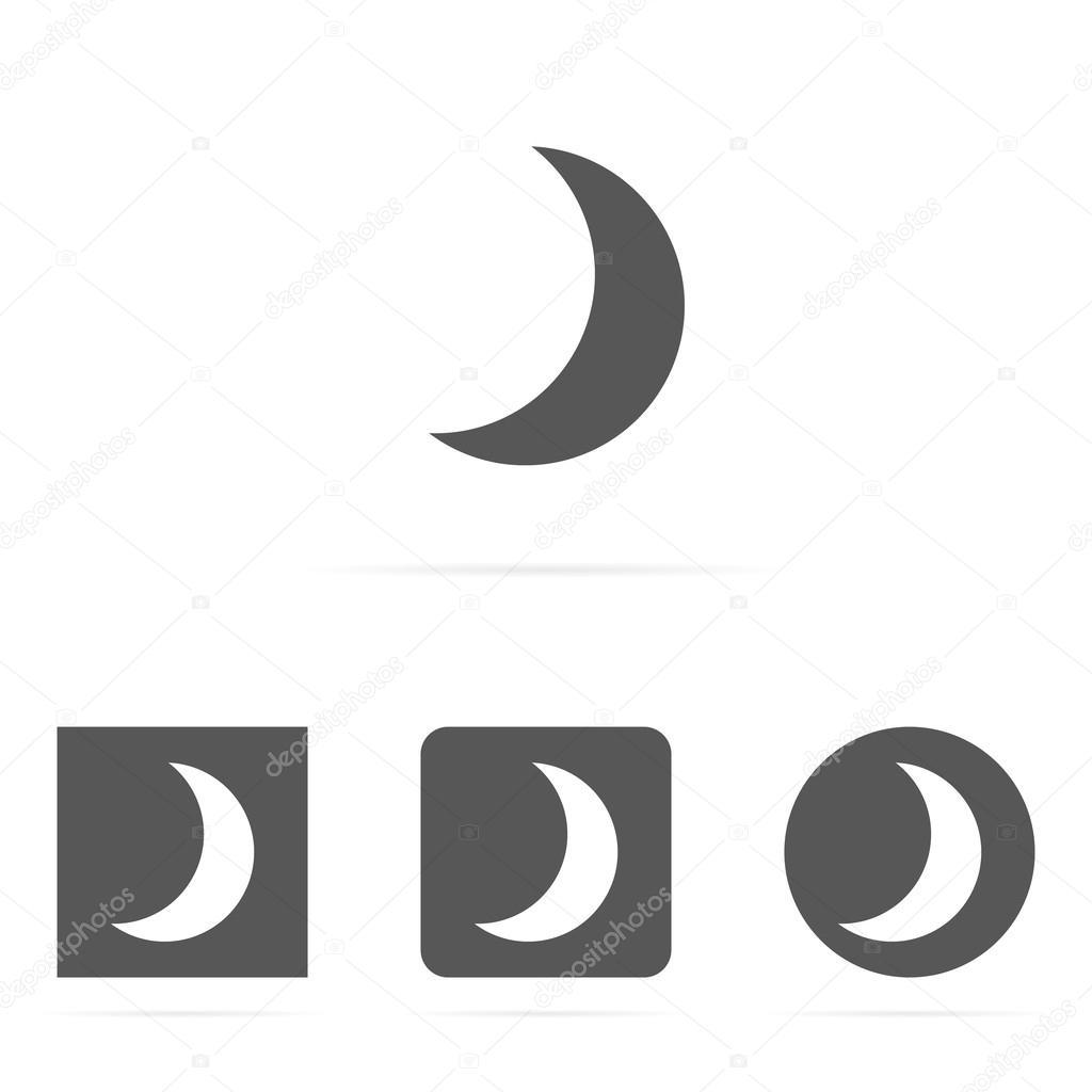 Moon Symbol Icon Stock Vector Ggebl 57134071