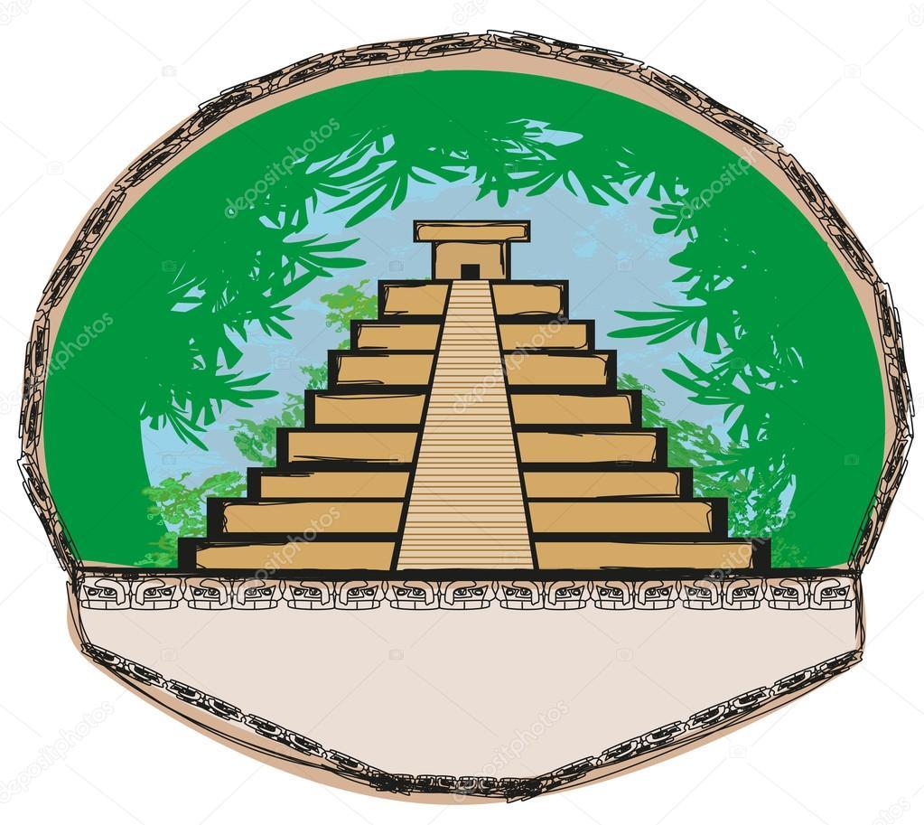 Dibujos Piramides Mayas Pirámide Maya Chichen Itzá México