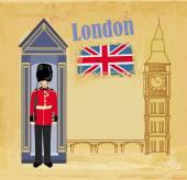 grunge banner s Londýn