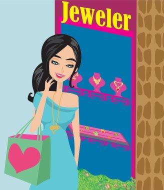 Girl and jewellerys