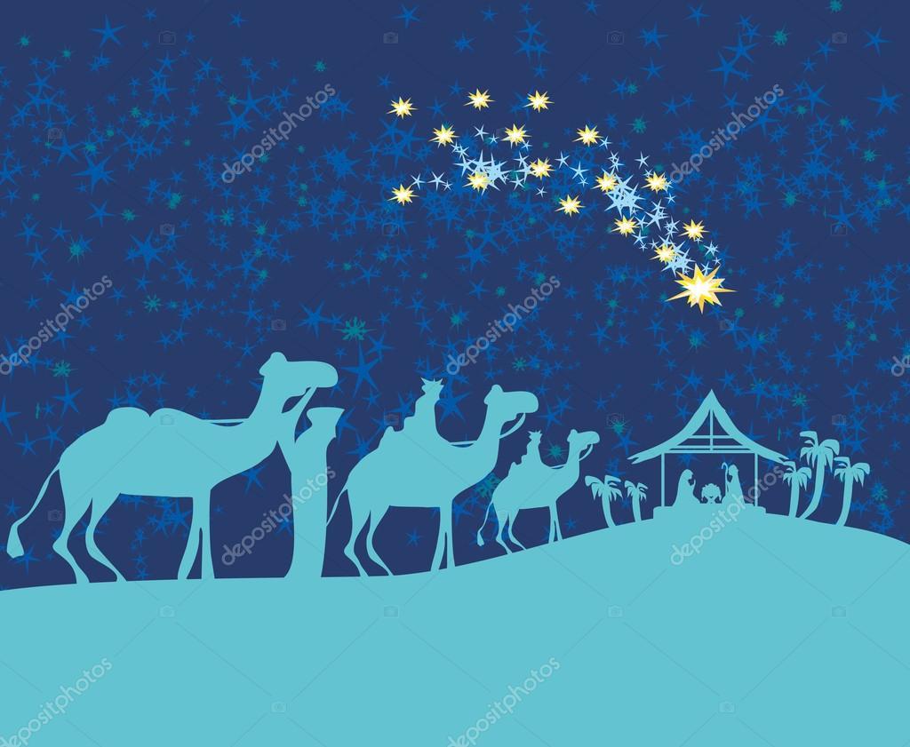Jesus De Belen Nacimiento En Siluetas