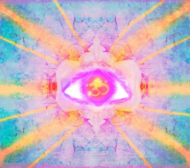 illustration of a third eye mystical sign