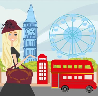 girl and shopping in London
