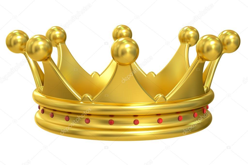 Corona de oro, render 3d — Fotos de Stock © alexlmx #104345716