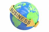 Global Business concept, 3D rendering