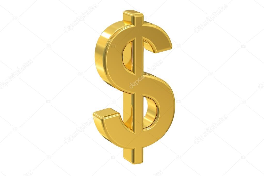 Símbolo De Dólar, Renderização Em 3d