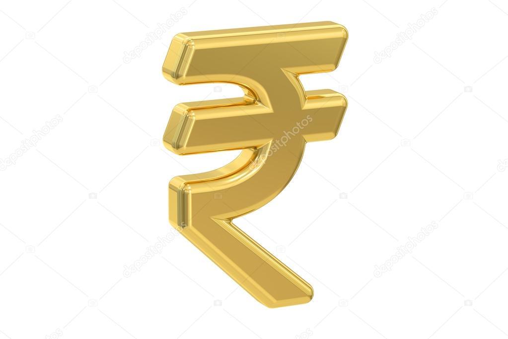 Indian Rupee Symbol 3d Rendering Stock Photo Alexlmx 117706702
