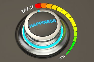 high level of happiness concept, 3D rendering