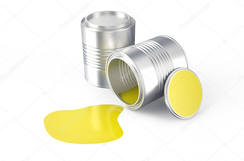 Spilled  yellow paint