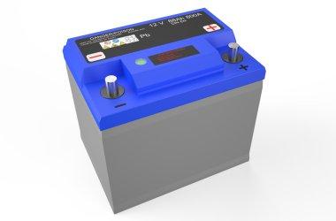 blue battery car