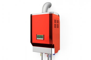 Red home gas-fired boiler,  water heater
