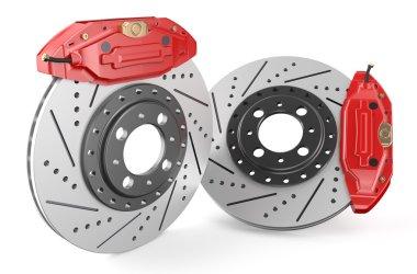 Car discs brake and caliper