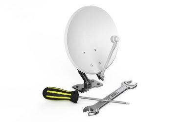 Satellite dish, service and repair concept