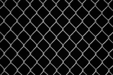fencing mesh on black background, texture