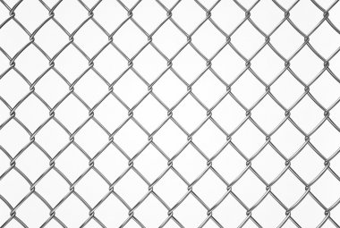 wired fence pattern on white background, texture