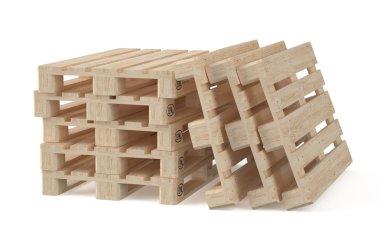 set of wooden eur pallets