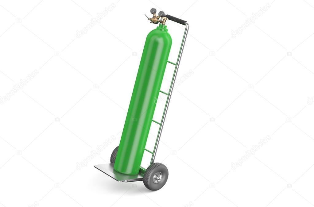 charrette bras avec bouteille de gaz verte. Black Bedroom Furniture Sets. Home Design Ideas