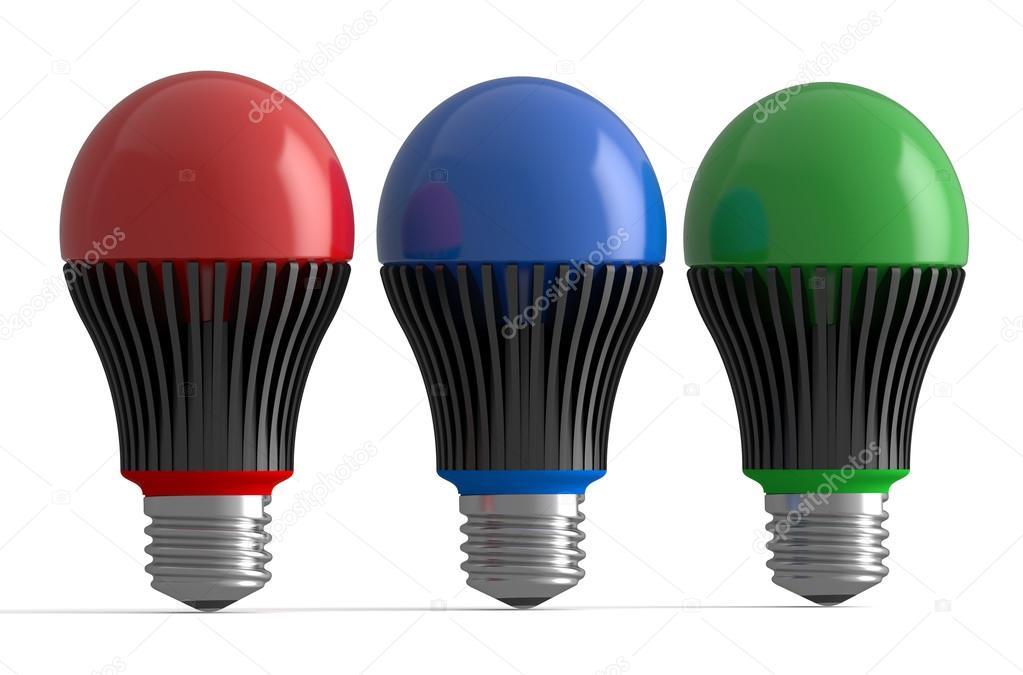 Entzuckend Satz Von Farbigen Led Lampen U2014 Stockfoto
