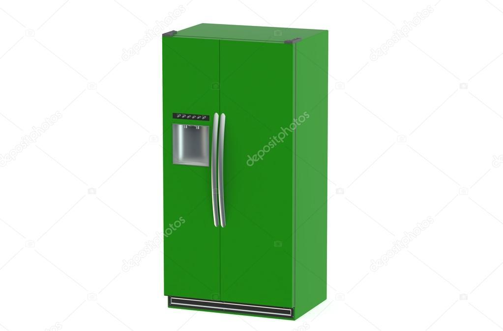 Side By Side Kühlschrank Farbig : Grüne moderne kühlschrank mit side by side tür system u stockfoto
