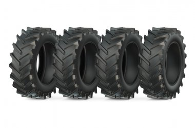 Group of tractor tires