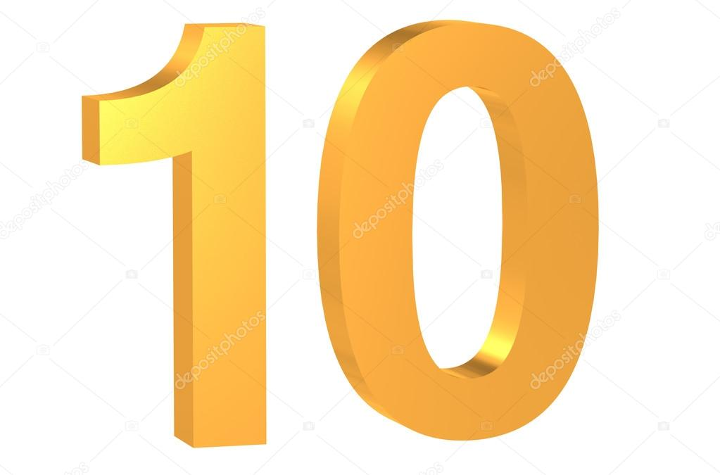 Golden number 10 Royalty Free Photo, Stock Image by © alexlmx ...