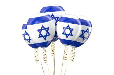 Israel patriotic balloons, holyday concept