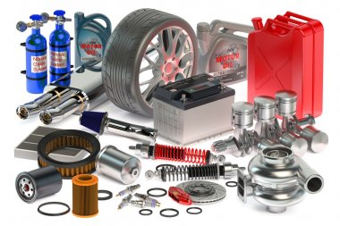Car parts isolated