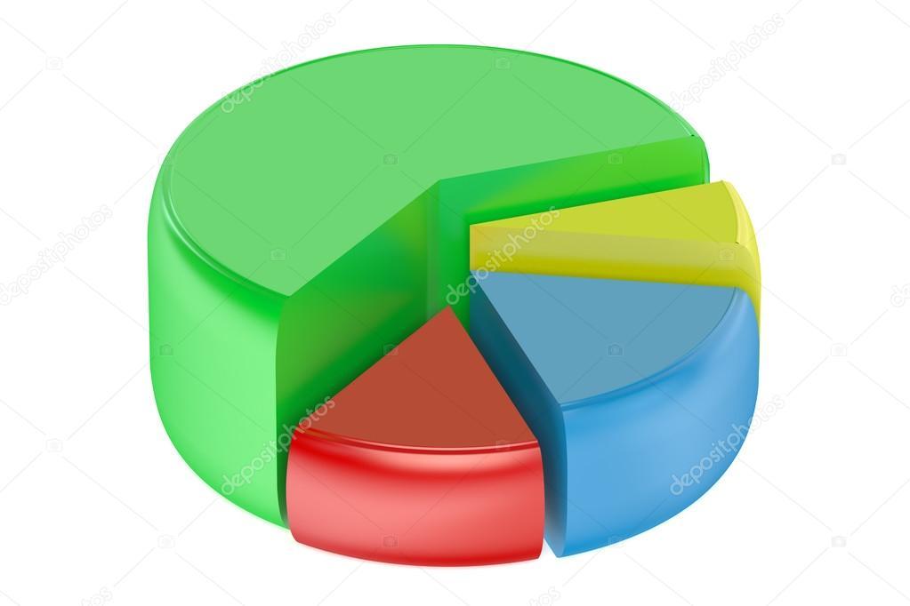 Pie Chart 3d Stock Photo Alexlmx 92509780