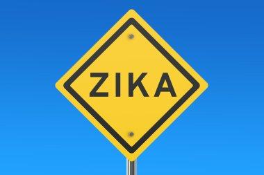 Zika virus sign isolated on blue sky stock vector