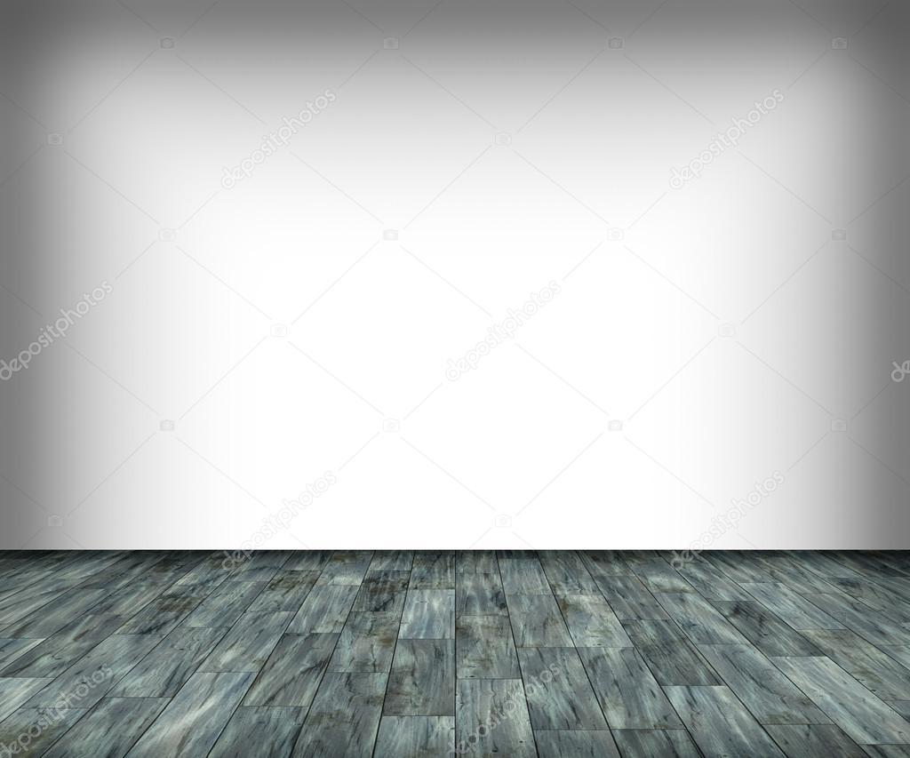 In Legno Wood Design vit vägg och trägolv — stockfotografi © italianphoto #61301725