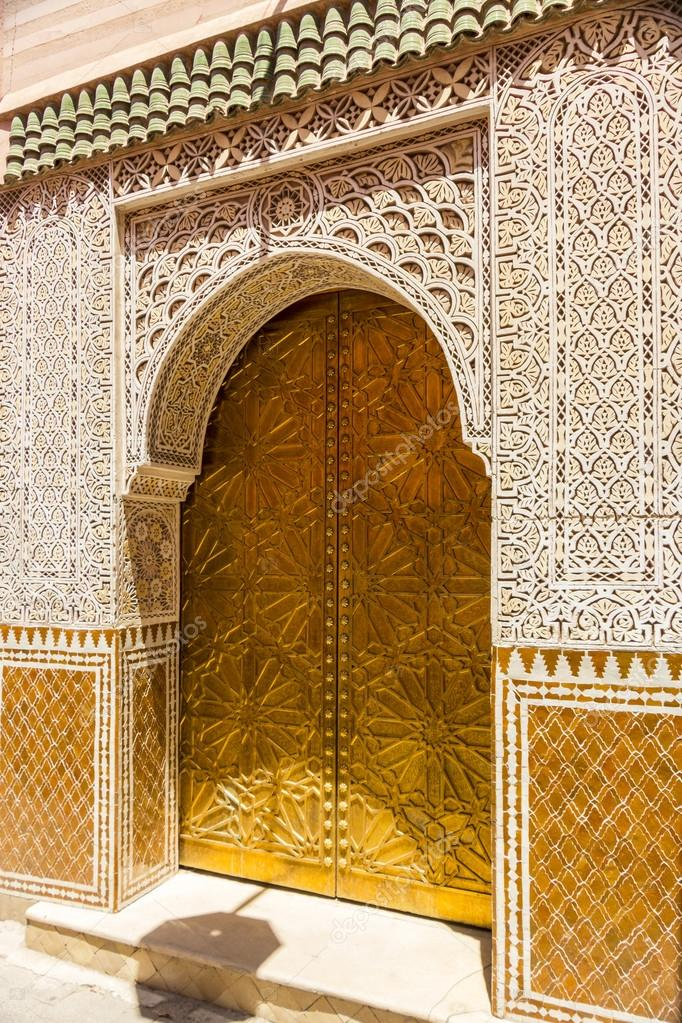 Decorated Mosque Doors U2014 Stock Photo